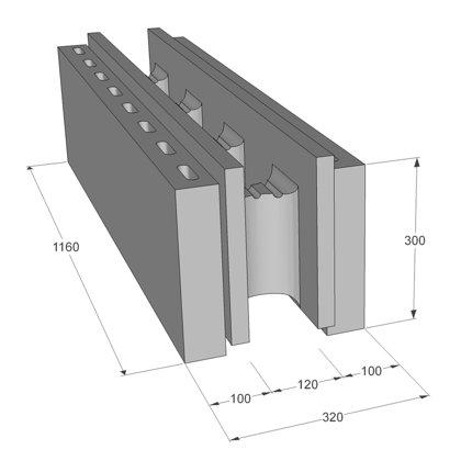 Neopora Monolīta bloks 320