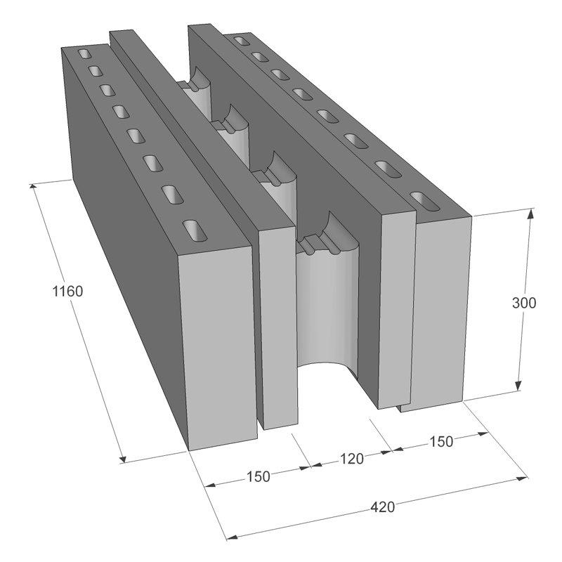 Neopora Monolīta bloks 420